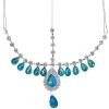 Head Jewellery Drop Turquoise Aurora Borealis